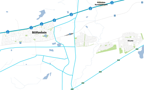 Stilfontein map